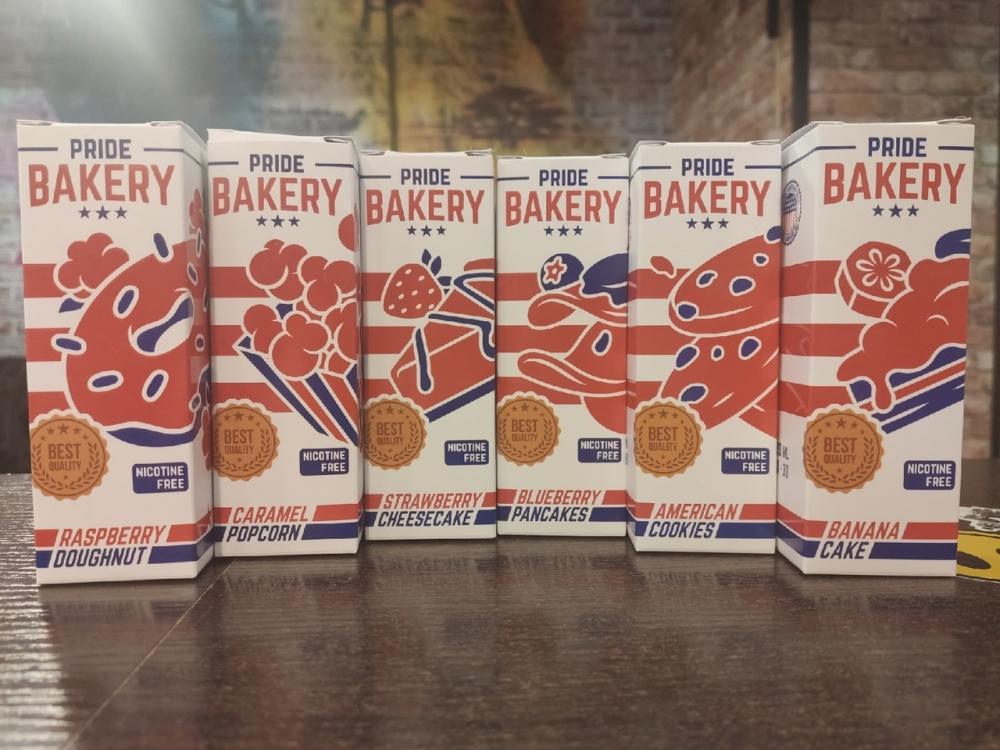 Жидкость Pride Bakery Raspberry Doughnut 120мл 0мг (пончик, малина)