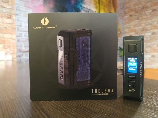 Бокс мод Lost Vape Thelema DNA250C Black Voyages