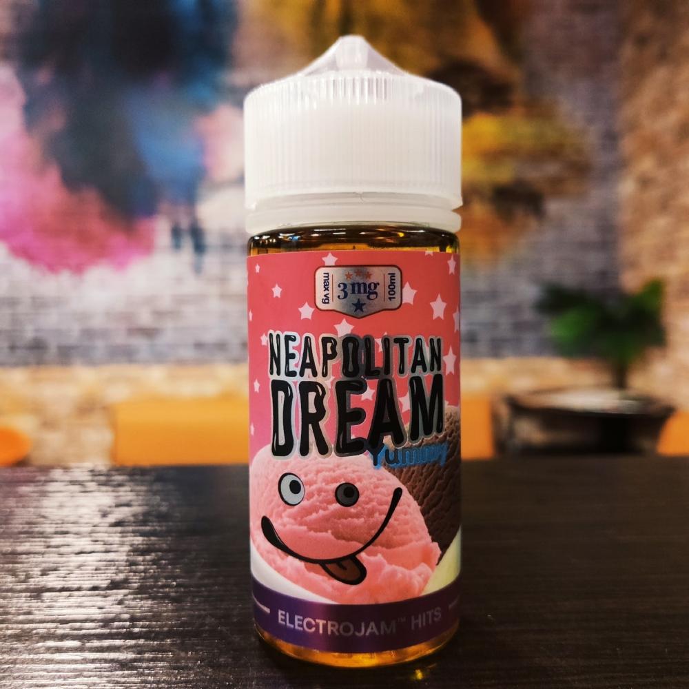 Жидкость ElectroJam Neapolitan Dream 100мл 3мг (итальянское мороженое, клубника, шоколад, крем, ваниль)