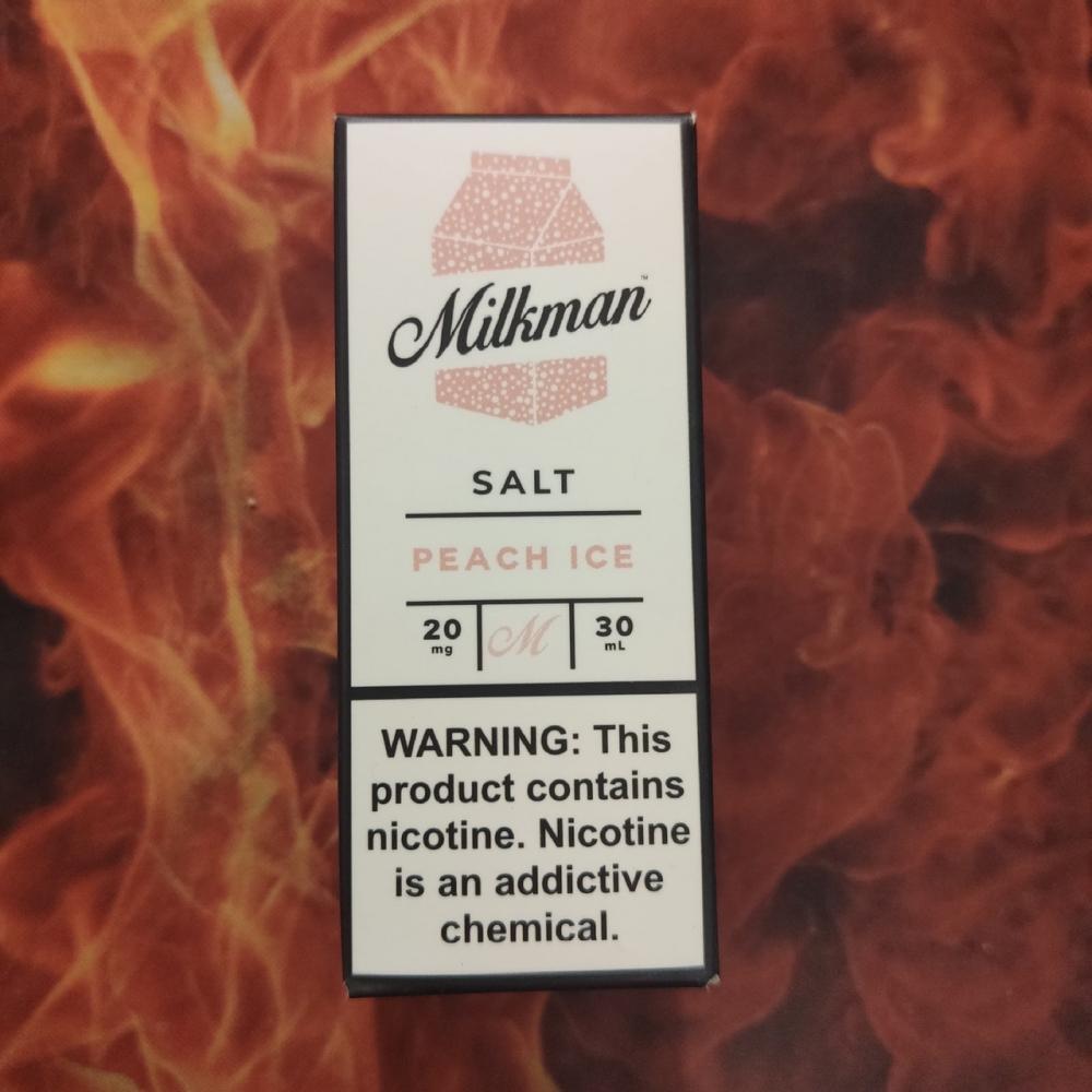 Жидкость Milkman SALT Peach Ice 30мл 20мг (персик, холодок)